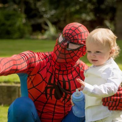 Spiderman and baby