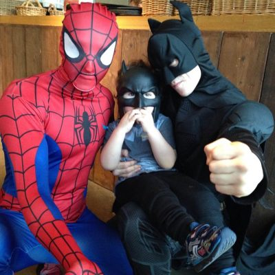 spider batman party