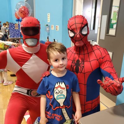 Spiderman Power Rangers Party