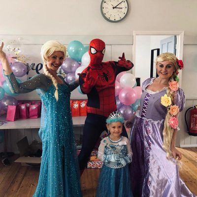 Spiderman princess duo parties