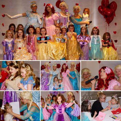 Velentine's Princess Tea Party collage