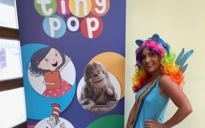 Bella Parties Rainbow Dash Launches My Little Pony's Latest Series on Tiny Pop Tv